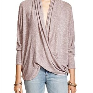 WE THE FREE MAUVE COCOON WRAP PULLOVER SZ S